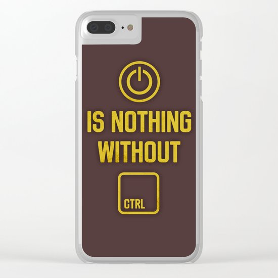 Power is nothing without Control Clear iPhone Case