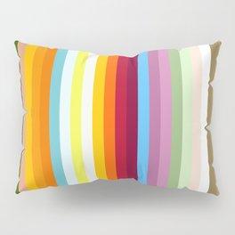 Multicolored Retro Stripes Mngwa Pillow Sham