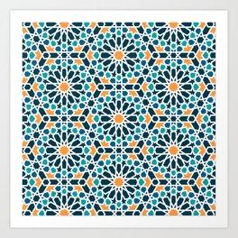 Tile of the Alhambra Art Print