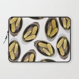 Delightful Deli Pickle Pattern From New York City Laptop Sleeve