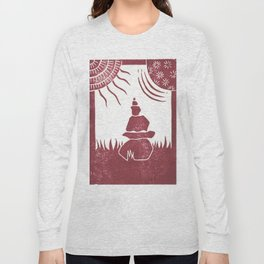 Relaxation (White) Long Sleeve T-shirt