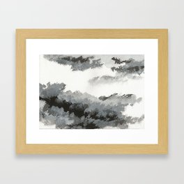 clouds_december Framed Art Print