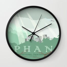 Planet Exploration: Phan Wall Clock