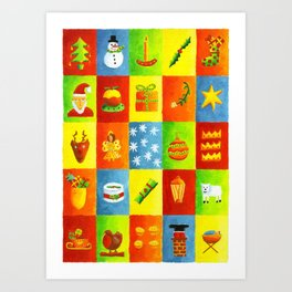 Christmas things Art Print