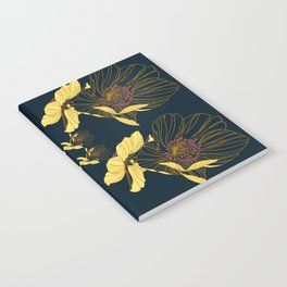 Art Nouveau Poppy Abstract Notebook
