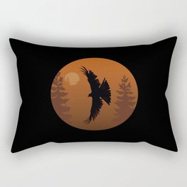 Red Kite (Forest) Rectangular Pillow
