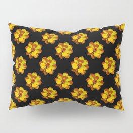 Pretty Golden Flowers Pillow Sham