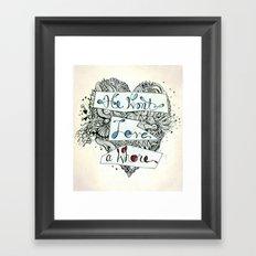 3>:( Framed Art Print