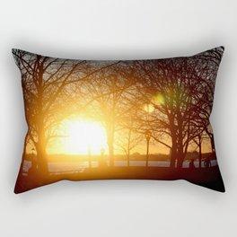 Sunset on the Hudson River Rectangular Pillow
