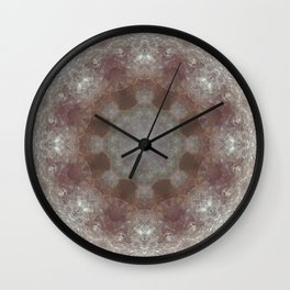 Mandala Amethyst Wall Clock