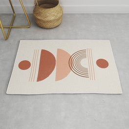 Geometric Modern Shapes, Art Rug