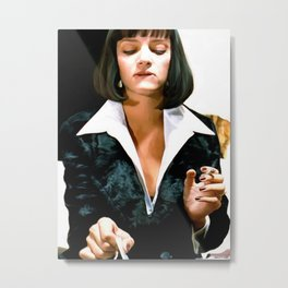 Uma Thurman @ Pulp Fiction Metal Print