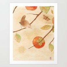 Winter Wren Art Print