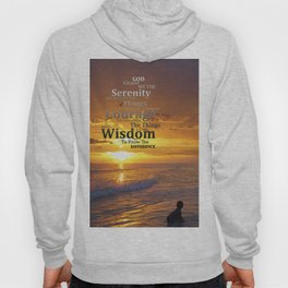Serenity Prayer With Sunset By Sharon Cummings Hoody