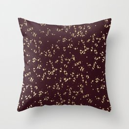 Modern elegant burgundy faux gold confetti Throw Pillow
