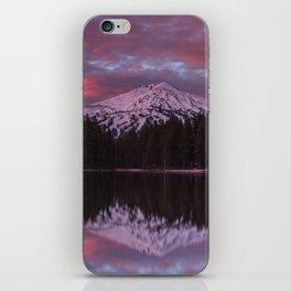 Mt. Bachelor sunrise reflection iPhone Skin