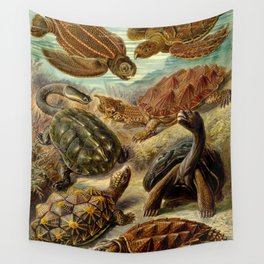 Sea Turtle Collage-Ernst Haeckel Wall Tapestry