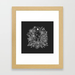 Botanical Bear Garden Framed Art Print