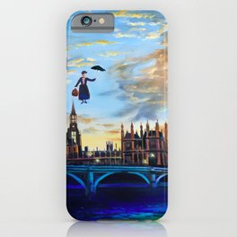 Mary Poppins returns to London iPhone Case