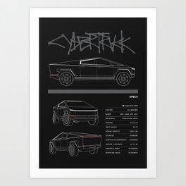 cybertruck Art Print