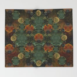 """Glass candy Mosaic (caramel pattern)"" Throw Blanket"