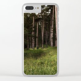 Forest Wander Clear iPhone Case