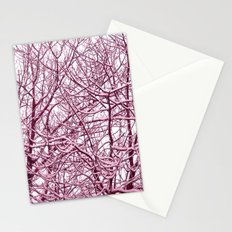 purple winter tree I Stationery Cards