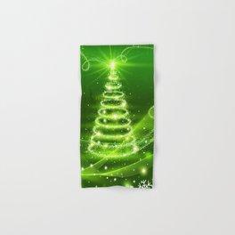 Christmas Tree and Snowflakes Hand & Bath Towel
