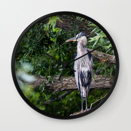 Heron waiting Wall Clock