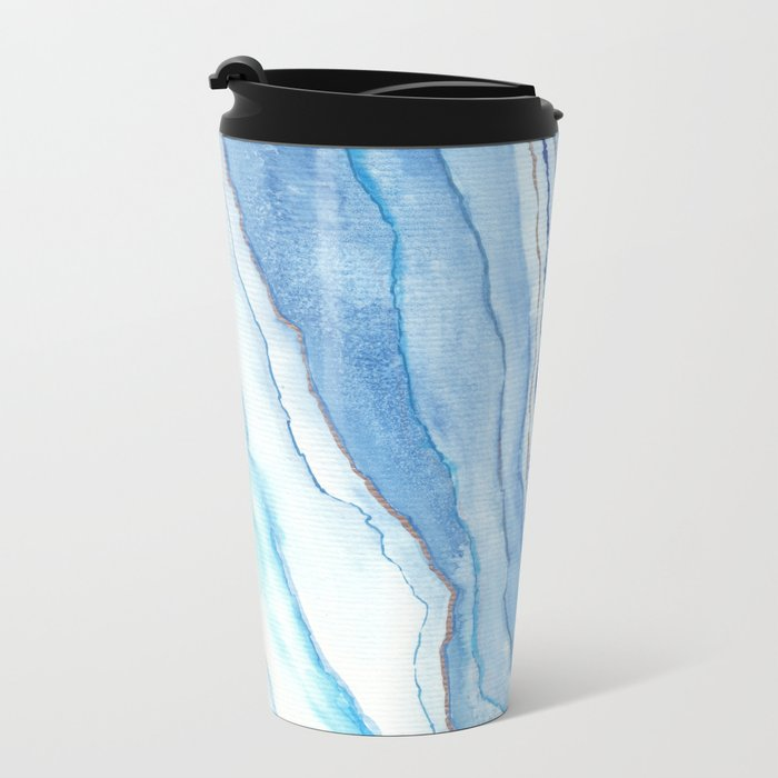 Agate Watercolor 12 Metal Travel Mug