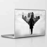 gentleman Laptop & iPad Skins featuring Gentleman walk by General Design Studio