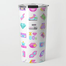 CUTE '80S PATTERN (RETRO THROWBACK EIGHTIES) Travel Mug