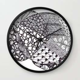 Zen Doodle Graphics zz14 Wall Clock