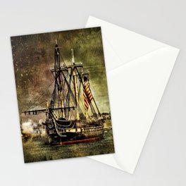 Tall ship USS Constitution Stationery Cards
