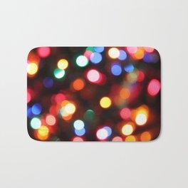 Colored Christmas Lights (2) Bath Mat