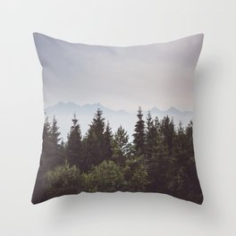Mountain Range - Landscape Photography Throw Pillow