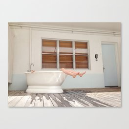 Tub Nap Canvas Print