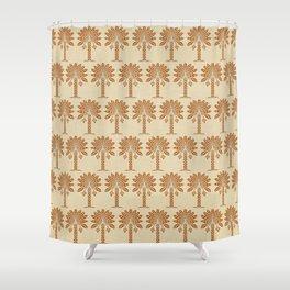 Cinnamon Spice Moods Palm Shower Curtain