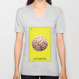 La Concha Mexican Bread Loteria Food Pan Dulce Mexicana Corazon Heart Classic Mar  Unisex V-Neck