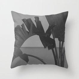 Black and White Palm Throw Pillow