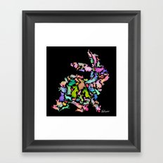 Soul Bunny - Spring Time - Dark Framed Art Print