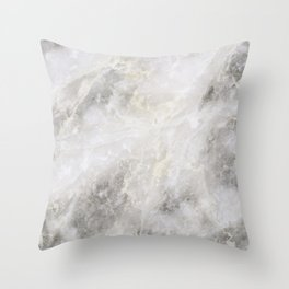 Silver & Gold Marble Throw Pillow