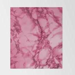Hot Pink Marble Pattern Throw Blanket