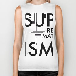 History of Art in Black and White. Suprematism Biker Tank