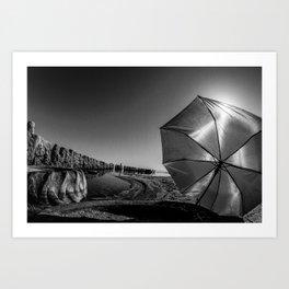 Salton Sea and an Umbrella Art Print