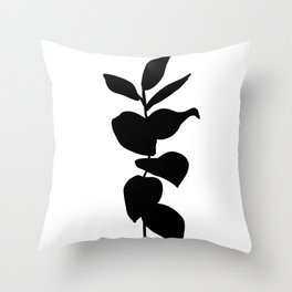 Leaves ink painting - Evie Throw Pillow