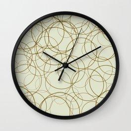 Circles and Doodles Wall Clock