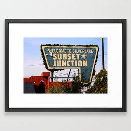Sunset Junction, Los Angles, CA Framed Art Print