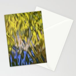 Mojave Gold Mosaic Abstract Art Stationery Cards