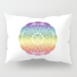 Pride Rainbow Gradient Mandala Pillow Sham